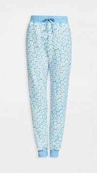 HVN Sweatpants Blue Daisy ~ floral joggers