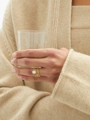 SHAY Illusion triple-chain diamond & 18kt gold ring ~ fine statement jewellery ~ luxe rings - flipped