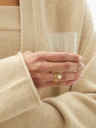 SHAY Illusion triple-chain diamond & 18kt gold ring ~ fine statement jewellery ~ luxe rings