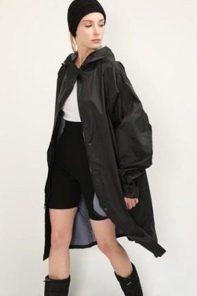 storets Nova Hoodie Raincoat | stylish black rainwear - flipped