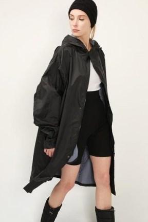storets Nova Hoodie Raincoat | stylish black rainwear