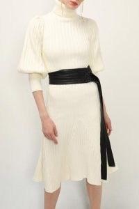storets Maya Knitted Dress w/Pleather Belt