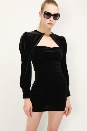 storets Viveca Cut Out Velvet Dress | LBD | little black party dresses - flipped