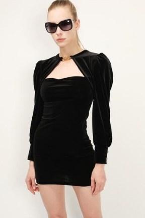 storets Viveca Cut Out Velvet Dress | LBD | little black party dresses