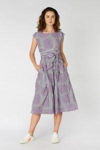 gorman INFINITY WRAP DRESS / spots and stripes