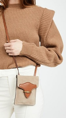 Isabel Marant Takury Bag | beige and tan crossbody