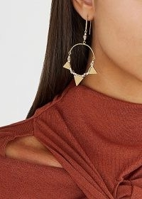 ISABEL MARANT ÉTOILE Rocio gold-tone hoop earrings ~ boho hoops