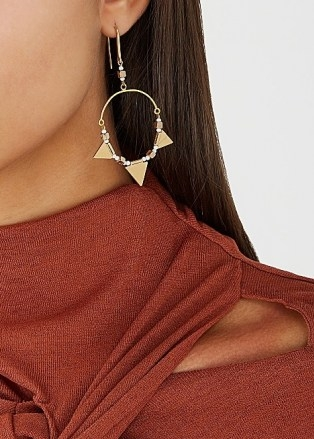 ISABEL MARANT ÉTOILE Rocio gold-tone hoop earrings ~ boho hoops - flipped