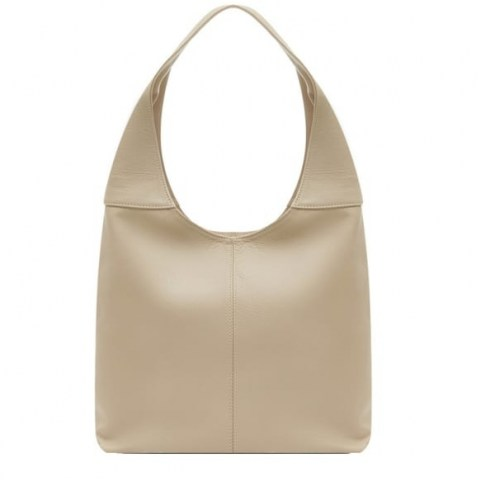 VodkaBlue Ivory Soft Leather Hobo Bag