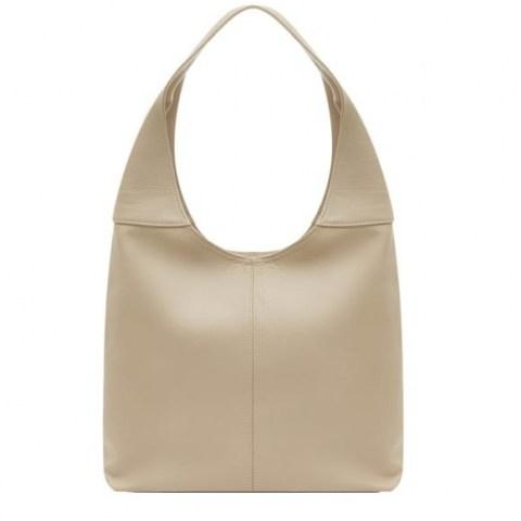 VodkaBlue Ivory Soft Leather Hobo Bag