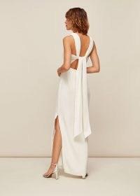 WHISTLES TIE BACK MAXI DRESS / long ivory evening dresses / elegant occasionwear