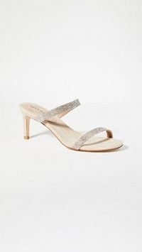 Jeffrey Campbell Royal Double Strap Sandals / crystal mules