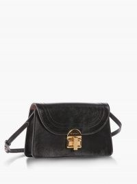 MARNI Juliette leather cross-body bag ~ black crossbody bags