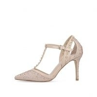 CARVELA KANKAN JEWEL ~ blush studded T-bar shoes