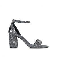 CARVELA KIANNI PEWTER ~ studded block heel sandal