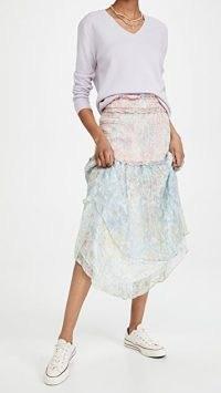 LOVESHACKFANCY Asaria Skirt Enchanted Wind / floral ruffle trim skirts