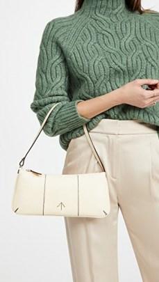 MANU Atelier Pita Bag ~ vanilla leather elongated handbag