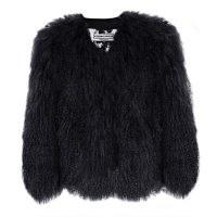 Florence Bridge Matilda Jacket Black | shaggy retro jackets