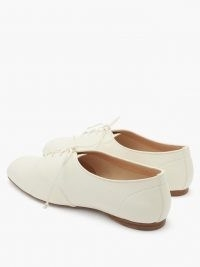GABRIELA HEARST Maya square-toe nappa-leather oxford shoes | chic lace up flats