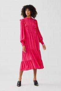 GHOST ESMA DRESS ~ pink ruffle trimmed dresses