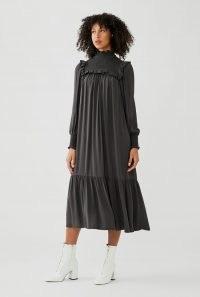 GHOST HARRY DRESS ~ high neck ruffle trim dresses
