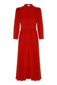 GHOST TRINITY DRESS ~ red frill trimmed dresses