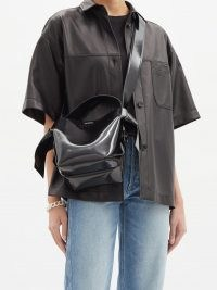 ACNE STUDIOS Musubi mini leather cross-body bag ~ chunky wide strap crossbody bags