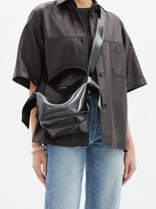 ACNE STUDIOS Musubi mini leather cross-body bag ~ chunky wide strap crossbody bags