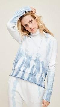 Nili Lotan Janie Hoodie / blue tie dye hoodies
