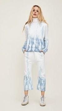 Nili Lotan Sf Sweatpants Sky Blue Tie Dye
