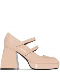 Nodaleto Neutral Bulla Babies 105 Mary Jane Leather Pumps | patent Mary Janes | retro shoes