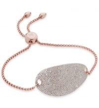 Monica Vinader Nura Diamond Friendship Chain Bracelet 18ct Rose Gold Plated Vermeil | luxe bracelets