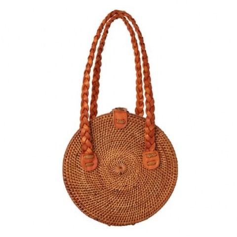 Betsy & Floss Nusa Round Basket Bag | circular bags - flipped
