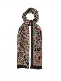 ETRO Paisley-print wool-blend twill scarf / printed scarves / accessories