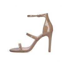 KURT GEIGER LONDON PARK LANE CAMEL ~ triple strap stiletto heels