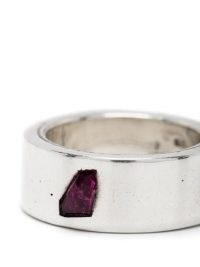 Parts of Four Sistema band ring | wide sterling silver and ruby rings