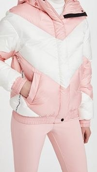 Perfect Moment Aspen Puffer ~ pink and white padded jackets