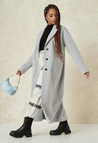 MISSGUIDED petite grey oversized long coat ~ longline coats for petites