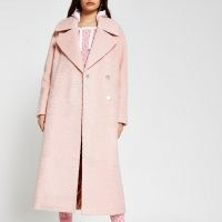 RIVER ISLAND Pink oversized longline coat / luxe style winter coats