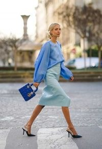 Shades of blue….beautiful! ~ chic tonal outfits