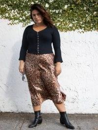 Reformation Pratt Skirt Es   plus size animal print skirts