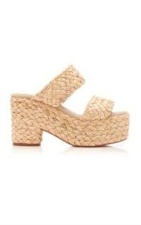 Castañer Raffia Platform Sandals | retro platforms