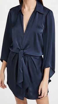 Ramy Brook Penny Dress ~ fluid navy blue dresses