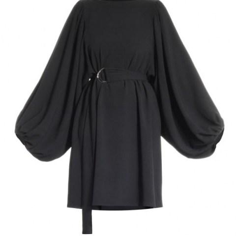Meem Label Raven Black Dress | voluminous sleeve LBD - flipped