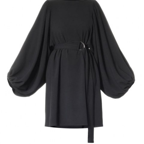 Meem Label Raven Black Dress | voluminous sleeve LBD