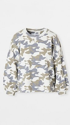 Rebecca Minkoff Rosie Sweatshirt / camo sweatshirts - flipped