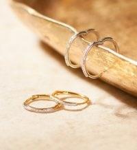 Monica Vinader Riva Wave Medium Hoop Diamond Earrings 18ct Gold Plated Vermeil | luxe hoops