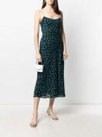 Rixo Holly floral-print satin slip dress | crystal trim cami strap dresses