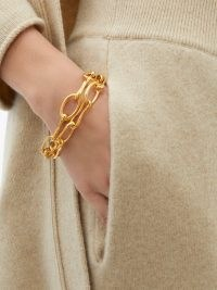 SOPHIE BUHAI Roman double chain-link 18kt gold-plated bracelet ~ chunky chains ~ contemporary bracelets