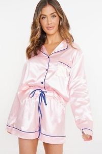 SAFFRON BARKER PINK PYJAMA SHORTS SET WITH GIFT BAG ~ nightwear sets ~ pyjamas